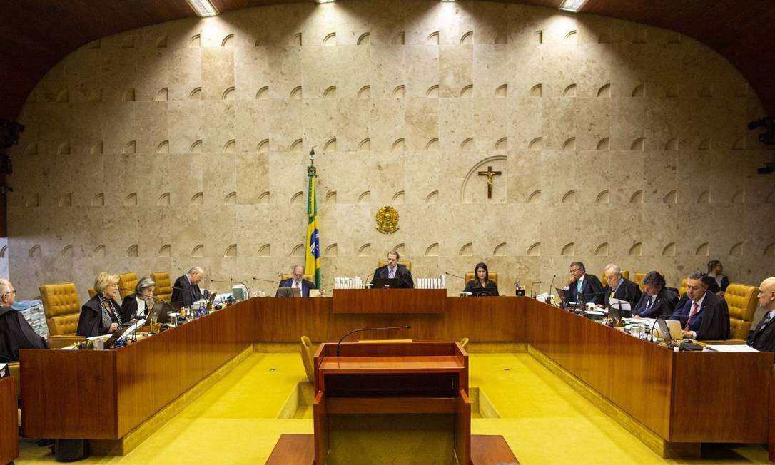 Plenário do STF retoma, na quinta-feira, discussão sobre prisão após condenação em segunda instância. Foto: Daniel Marenco / Agência O Globo
