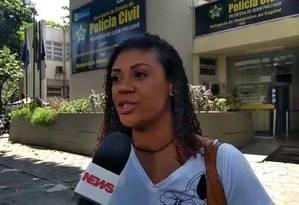 Vanessa, mãe da menina Ágatha, criticou inquérito estar em segredo de Justiça; ela pediu que seja identificado quem matou sua filha Foto: Frame de vídeo / Gustavo Goulart