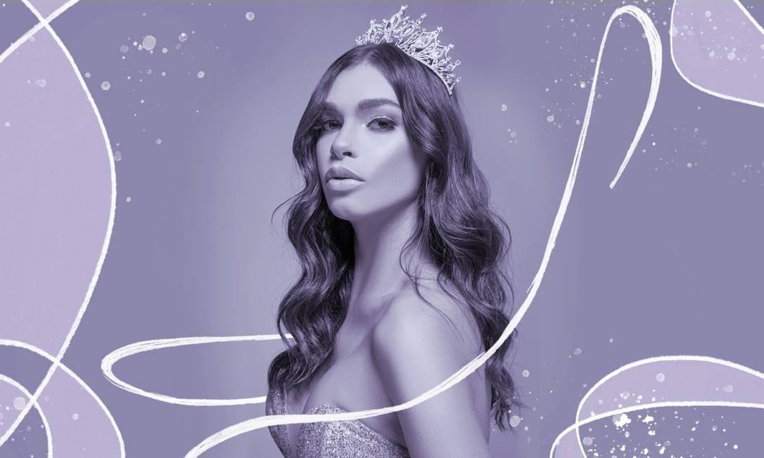 Ariella Moura, de 22 anos, é a ganhadora do concurso Miss Beleza Trans Brasil Foto: Arte sobre foto de Francisco Saucer