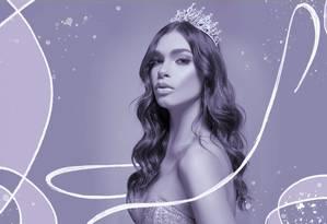 Ariella Moura, de 22 anos, é a ganhadora do concurso Miss Beleza Trans Brasil Foto: Arte sobre foto de Warley Oliver