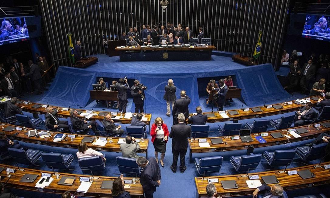 Plenário do Senado quando da votação da Previdência, em outubro. Foto: Daniel Marenco / Agência O Globo