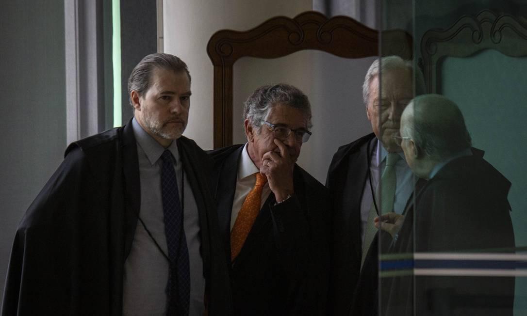 Ministros do STF decidem na quinta-feira sobre prisão após condenação em segunda instância Foto: Daniel Marenco / Agência O Globo 23/10/2019