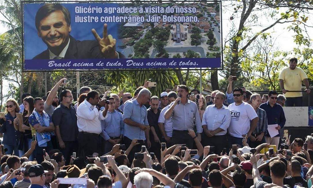 Apoio:Bolsonaro recebeu 64,7% dos votos em Glicério no segundo turno Foto: Edilson Dantas - Agência O Globo