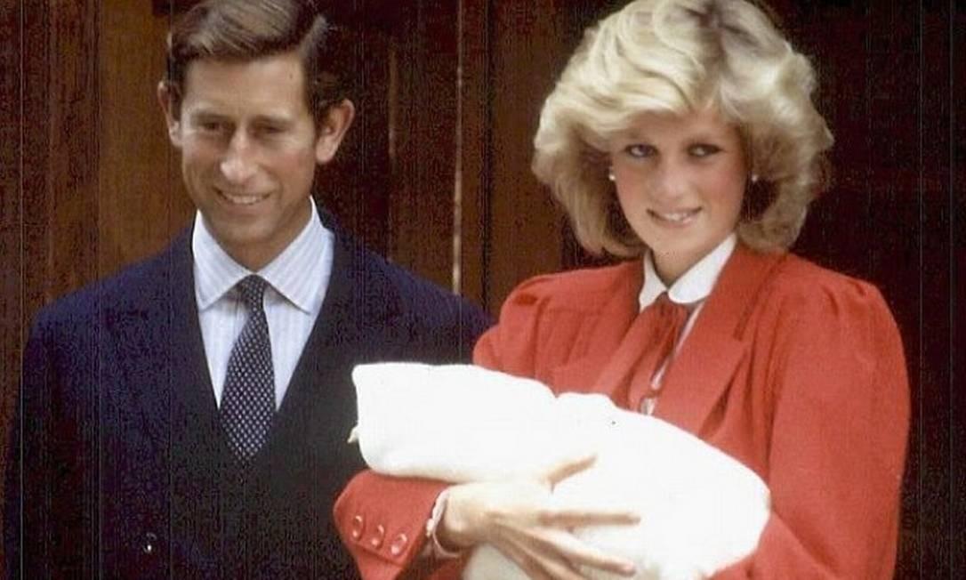 Diana, Charles e Harry Foto: AFP