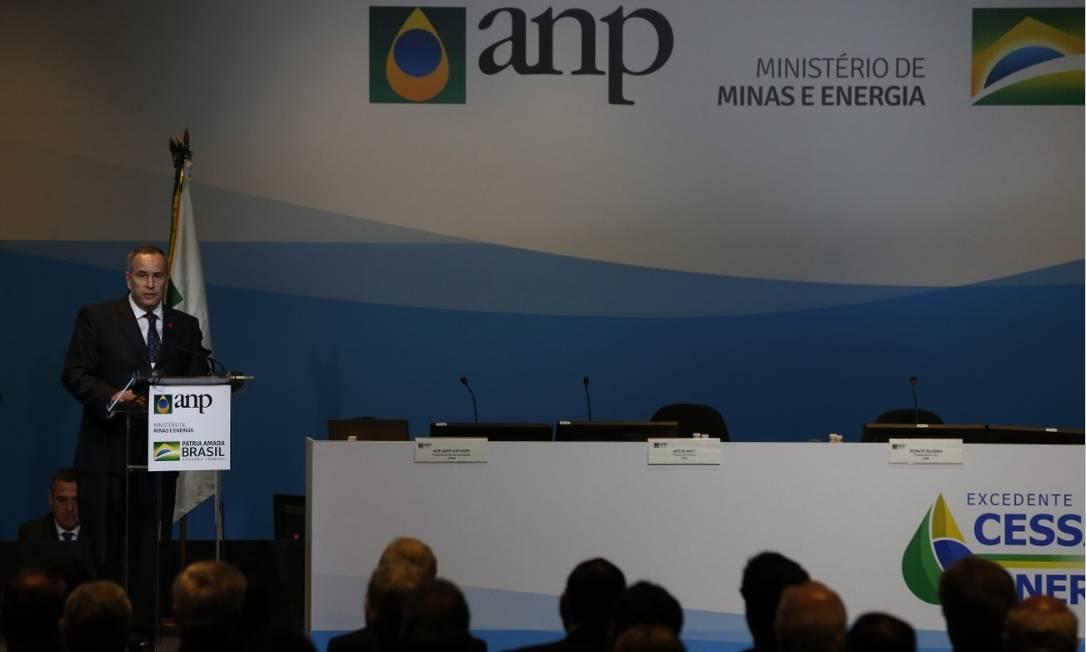 O presidente da ANP, Décio Odone, na abertura do megaleilão de petróleo Foto: Pablo Jacob - Agência O Globo