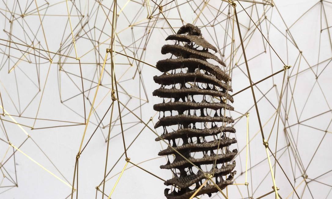 Daisy Xavier: instalação 'Sobre como as coisas caem' Foto: Divulgação/Pat Kilgore