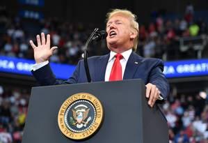 Presidente Donald Trump durante evento de campanha em Kentucky Foto: MANDEL NGAN / AFP/04-11-2019