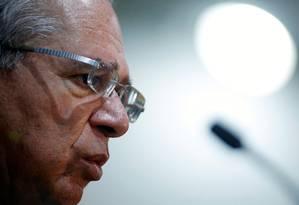 """O ministro da Fazenda, Paulo Guedes, disse o Congresso é soberano: """"Seria uma arrogância tola dizer que tem algum ponto é inegociável"""" Foto: ADRIANO MACHADO / Adriano Machado/ Reuters/04-11-2019"""