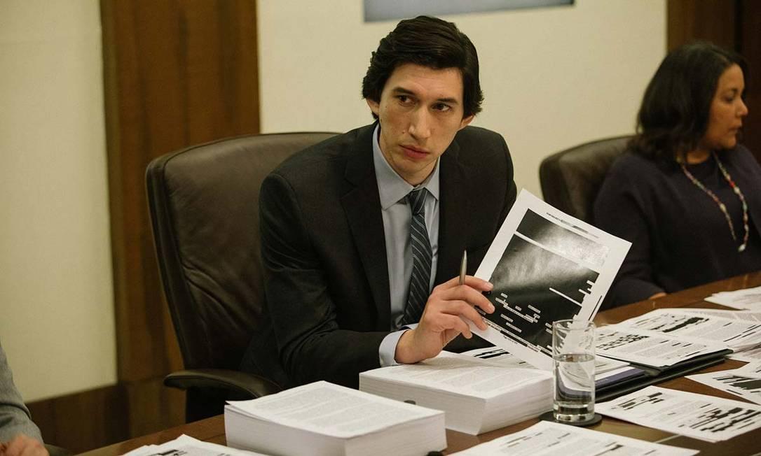 Adam Driver em cena do filme 'O relatório' Foto: Divulgação