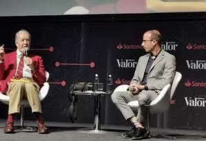 Jared Diamond (esq) e Yuval Harari, no evento Cidadão Global Foto: Ana Paula Paiva / Valor