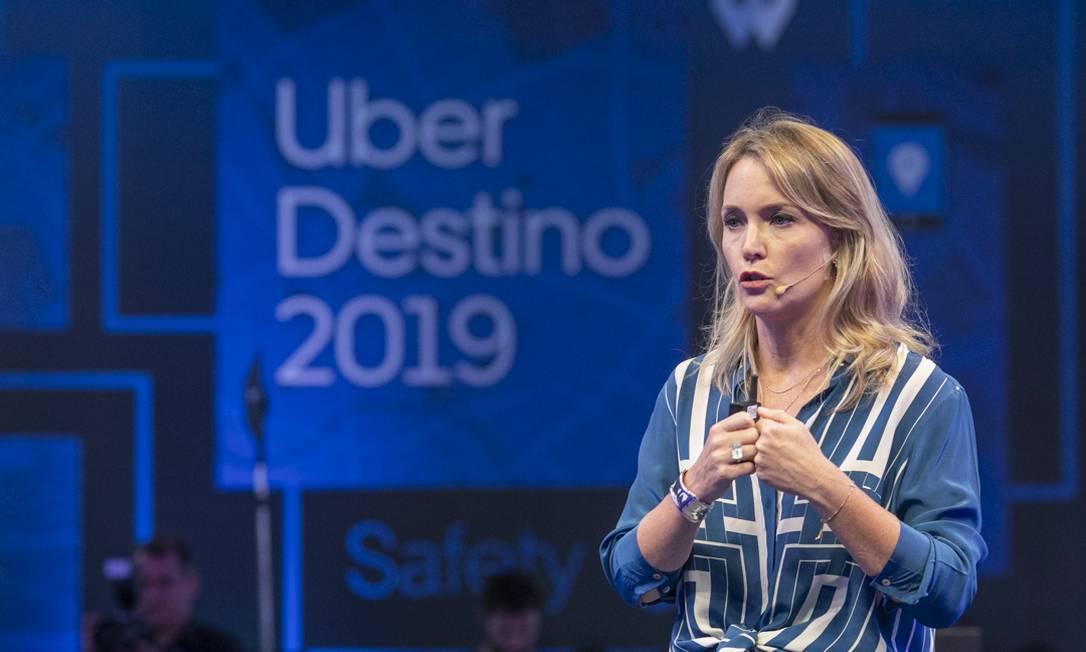 Claudia Woods, diretora da Uber no Brasil, participou do anúncio das novas ferramentas de segurança Foto: Divuilgação