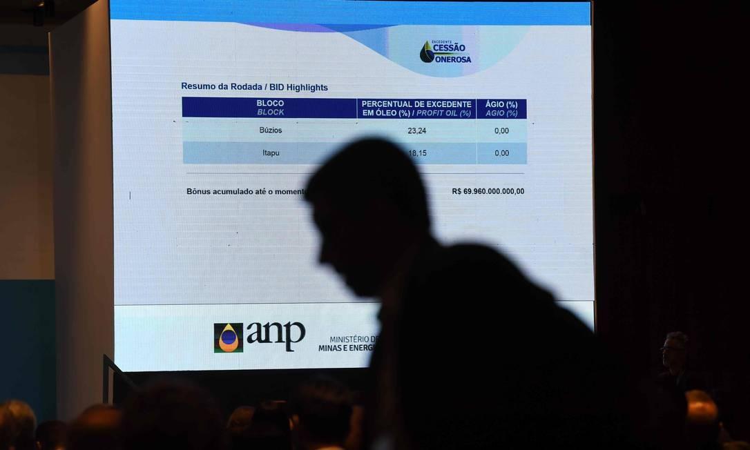 Leilão da cessão onerosa frustrou governadores. Foto: MAURO PIMENTEL / AFP