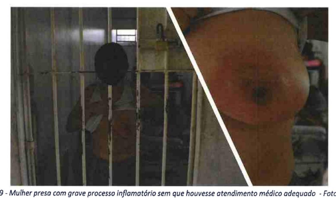 Prisão feminina: nuas sobre formigueiros Foto: Reprodução