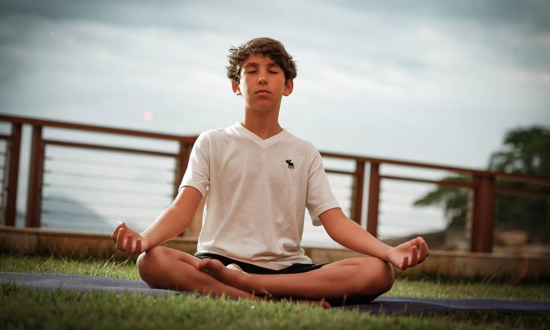 Gustavo Nigri, praticante de mindfulness Foto: ROBERTO MOREYRA / Agência O Globo