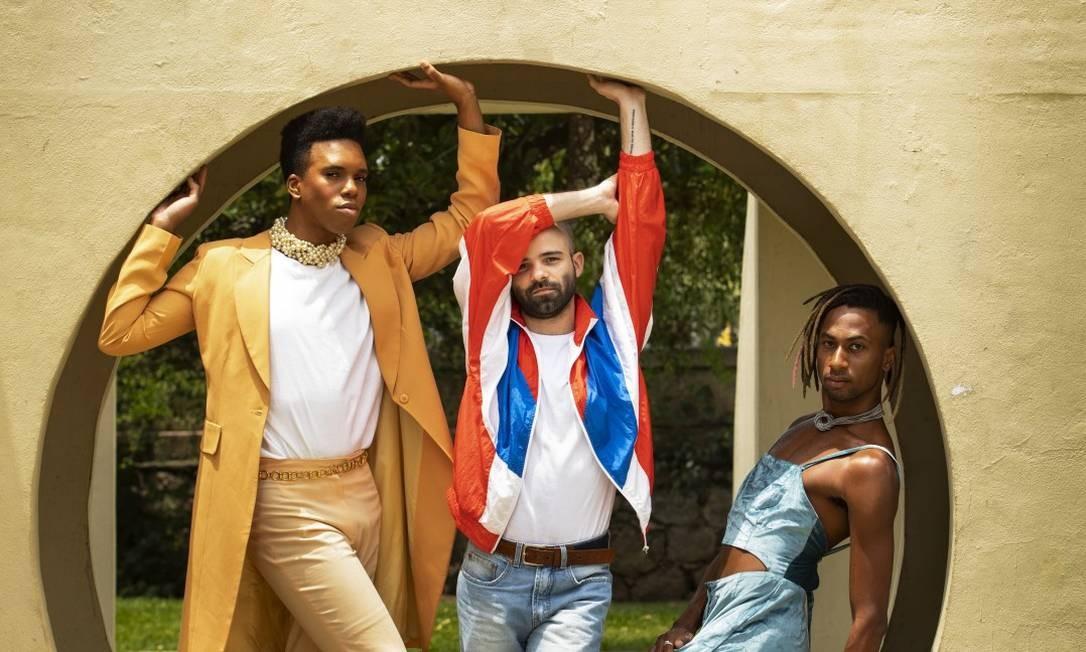 Daniel Kalleb, Caio Riscado e Caio Prado: felizes em se expressar como bem entendem Foto: Ana Branco / Agência O Globo