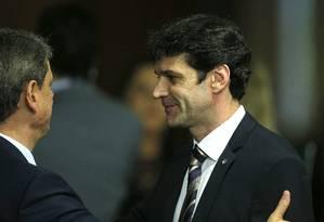 Na foto, o presidente Jair Bolsonaro e o ministro do Turismo, Marcelo Álvaro Antônio Foto: Jorge William / Agência O Globo