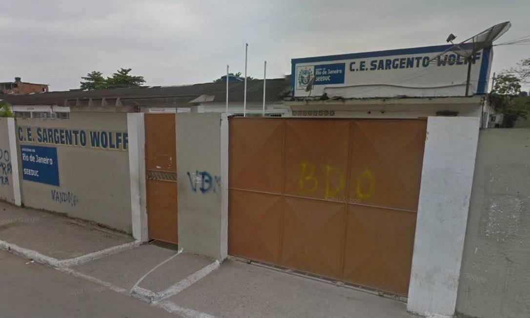 Colégio Estadual Sargento Wolff, no bairro Boa Ventura, em Belford Roxo Foto: Reprodução