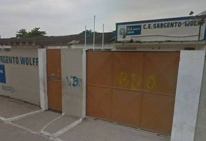 Estudante foi atingida por bala perdida no pátio do colégio Foto: Reprodução