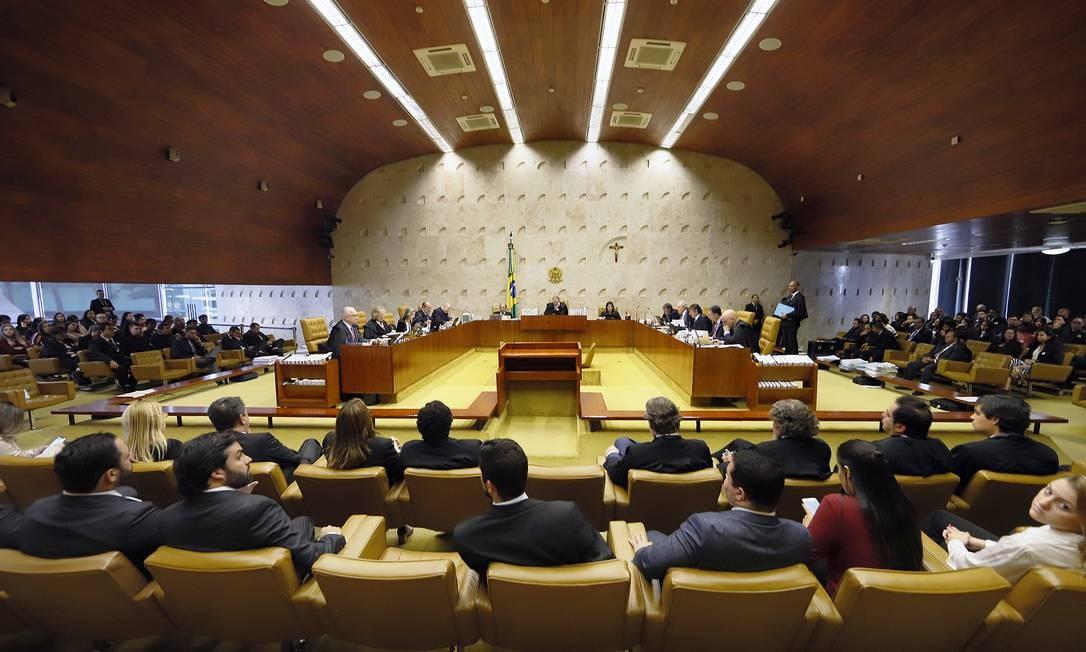 O plenário do Supremo Tribunal Federal 07/11/2019 Foto: Divulgação