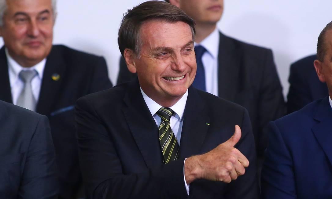 O presidente Jair Bolsonaro Foto: SERGIO LIMA / AFP