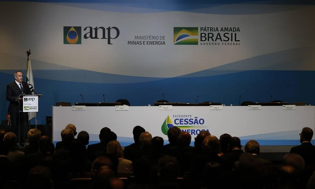 Leilão da cessão onerosa. Foto: Pablo Jacob / Pablo Jacob