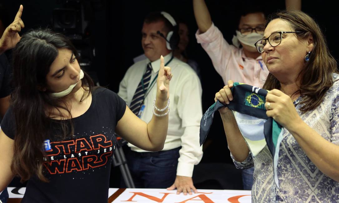 Confusões são comuns em audiências públicas sobre o Escola Sem Partido Foto: Jorge William/31.10.2018 / Agência O Globo