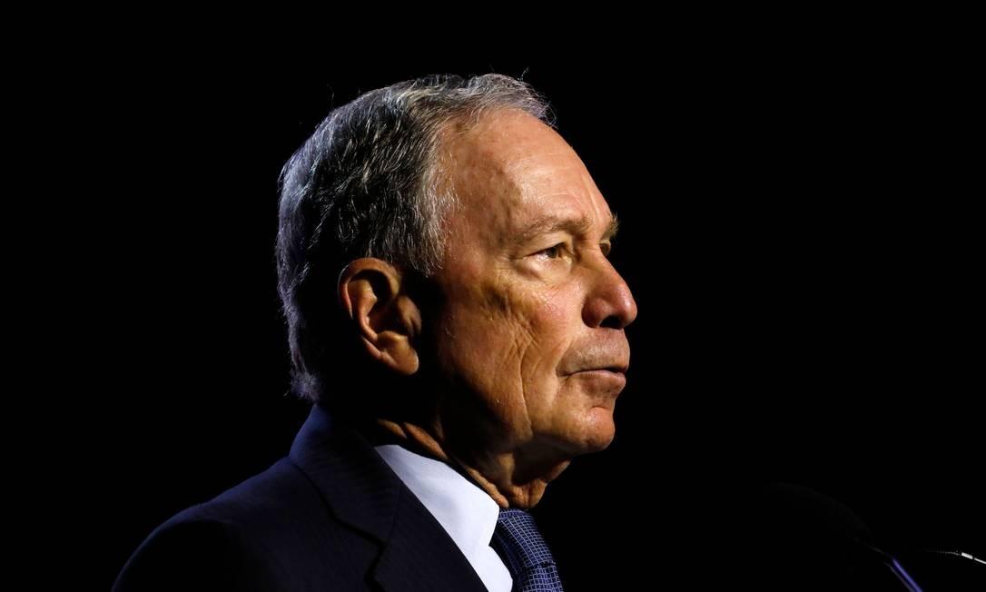 Ex-prefeito de Nova York, Michael Bloomberg foi sondado para concorrer à presidência em 2008, 2012 e 2016, mas nunca oficializou a intenção de chegar a Casa Branca Foto: JEFF KOWALSKY / AFP