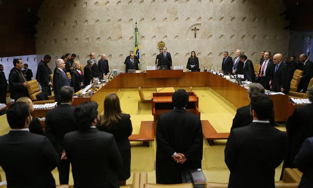 O plenário do Supremo Tribunal Federal Foto: Jorge William / Agência O Globo