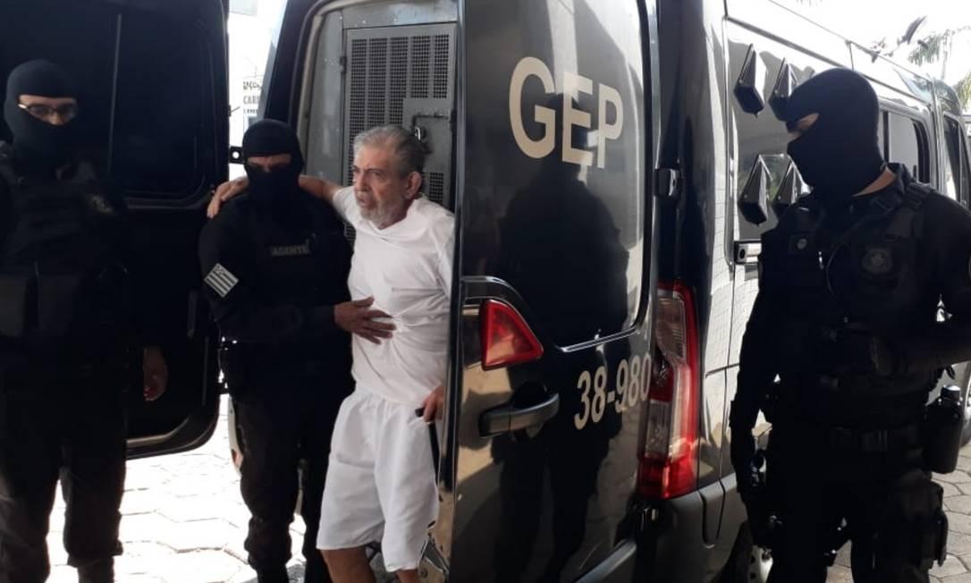 João de Deus chega a hospital em Goiânia, em setembro; ele foi condenado e segue na prisão Foto: Agência O Globo