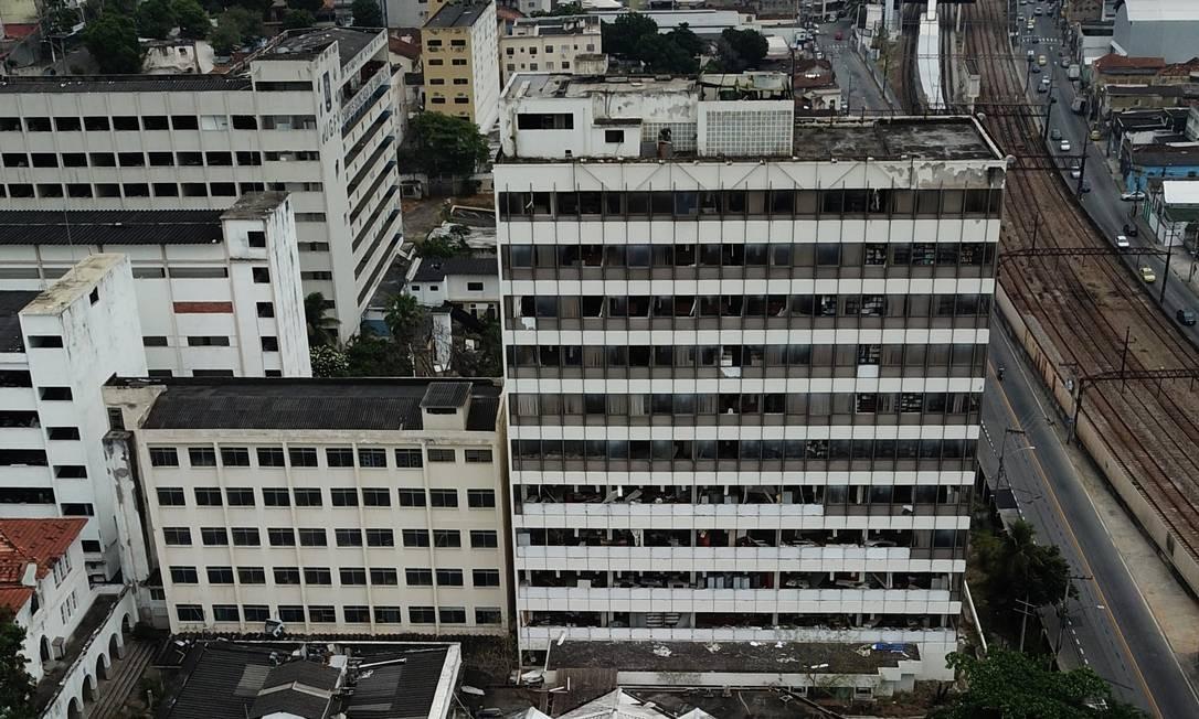 O campus da Piedade tem 57.300 m² de área construída e capacidade para 40 mil estudantes Foto: Custódio Coimbra / Agência O Globo