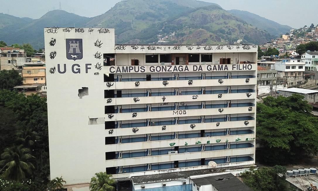 Universidade Gama Filho, na Piedade, já teve mais de 30 mil alunos e ajudou o desenvolvimento econômico para o bairro Foto: Custódio Coimbra / Agência O Globo