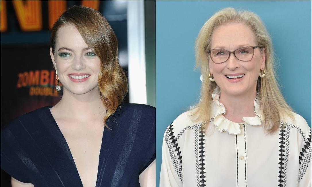 Emma Stone e Meryl Streep Foto: Getty Images