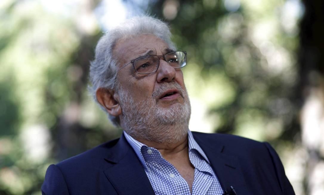 Plácido Domingo diz que relações foram 'consensuais' Foto: Gustavo Stephan / Agência Globo