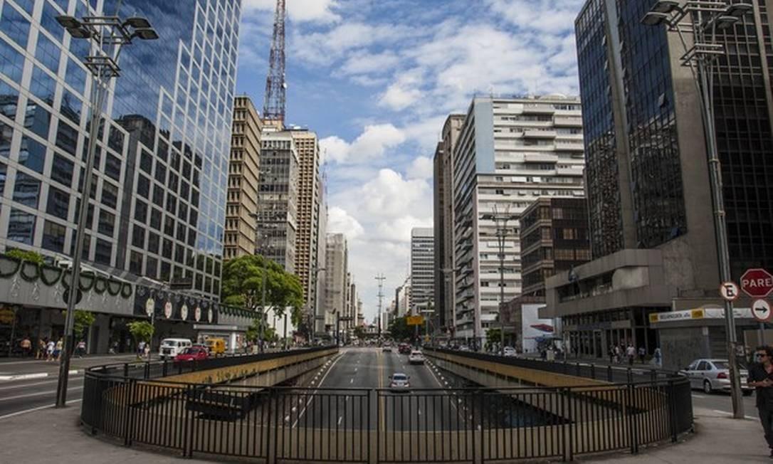 A Avenida Paulista, em São Paulo Foto: Vagner Campos/TV Globo