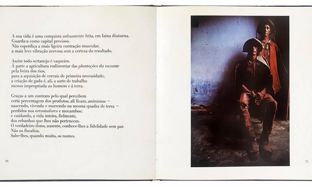 A mostra inclui também Sertões: luz & trevas (1982), livro que a fotógrafa considera mais bem-acabado e que, neste ano, ganhou uma nova edição pelo IMS. A obra combina trechos de Os sertões, de Euclides da Cunha, com imagens que Bisilliat produziu entre 1967 e 1972 no Nordeste brasileiro Foto: Divulgação