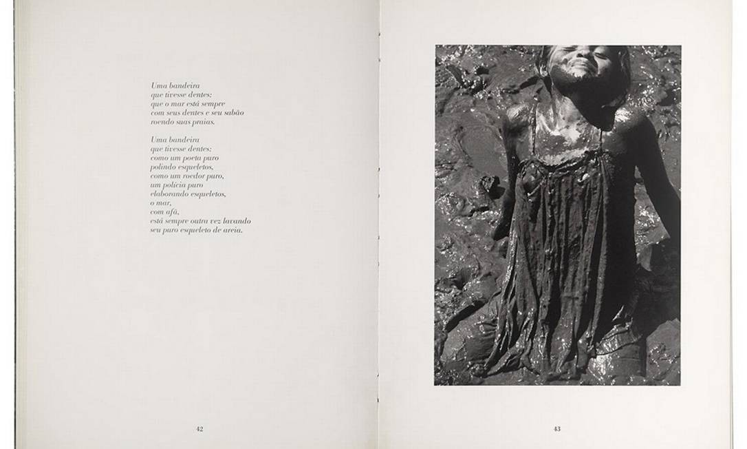 """A união entre o estético e o social também aparece em """"O cão sem plumas"""" (1984). O livro traz o poema homônimo do escritor pernambucano João Cabral de Melo Neto, publicado originalmente em 1950, acompanhado por imagens de Bisilliat Foto: Divulgação"""
