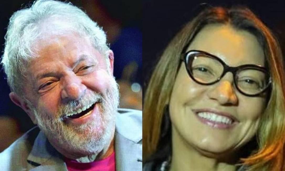 Lula e a namorada, Janja Foto: Reprodução / Arquivo e Facebook