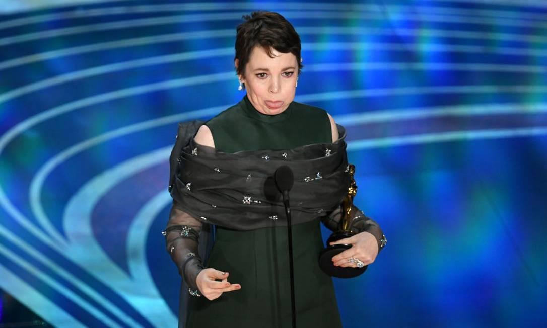 Olivia Colman na cerimônia do Oscar Foto: Kevin Winter / Getty Images