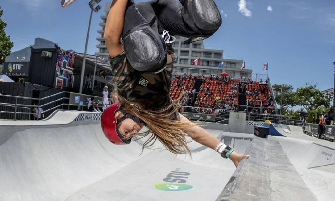 Skate. STU Open, que terá atletas como Dora Varella, agitará a Praça do Ó Foto: Divulgação/Pablo Vaz