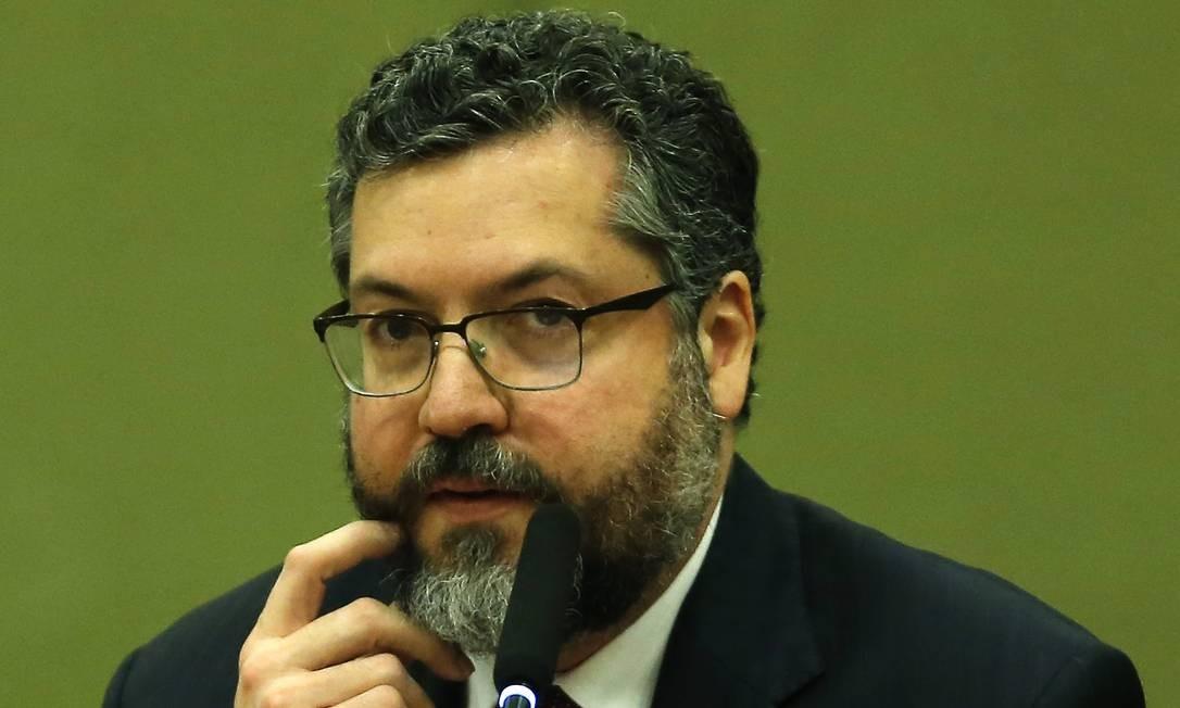 O chanceler Ernesto Araújo Foto: Jorge William / Agência O Globo