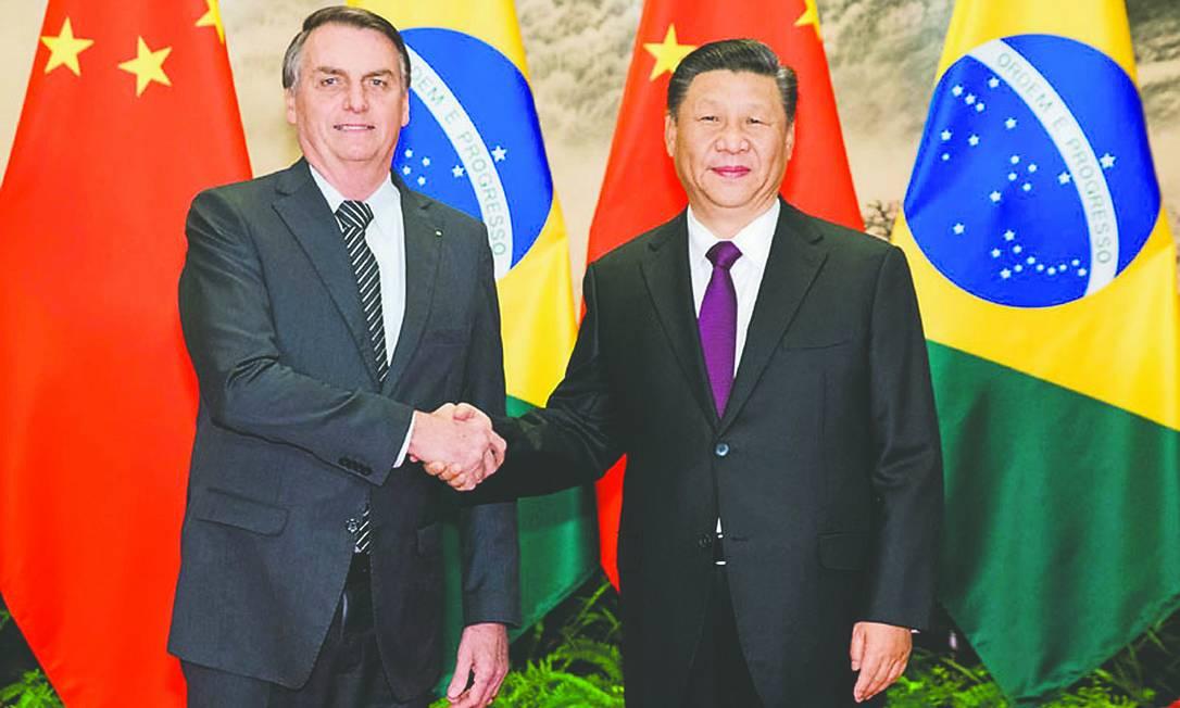 Presidentes Jair Bolsonaro e Xi Jinping Foto: SYSTEM / Divulgação