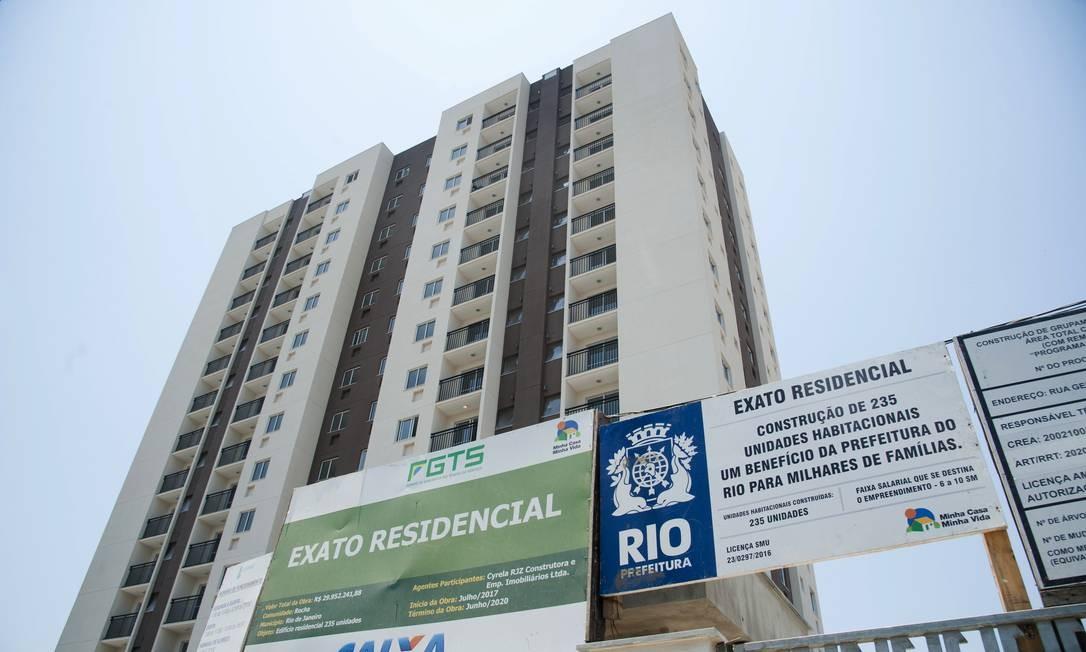 A expansão imobiliária na Zona Norte foi liderada por prédios com financiamento do programa Minha Casa Minha Foto: Adriana Lorete / Agência O Globo