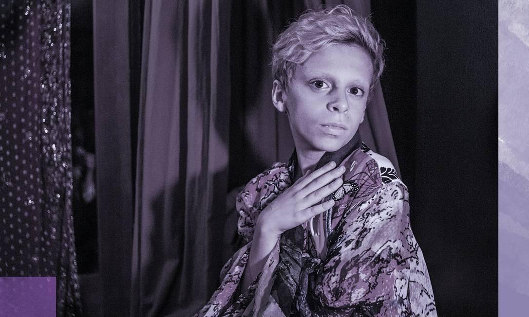 Desmond Napoles, de 12 anos, faz performances como drag em Nova York Foto: MARIDELIS MORALES ROSADO / NYT
