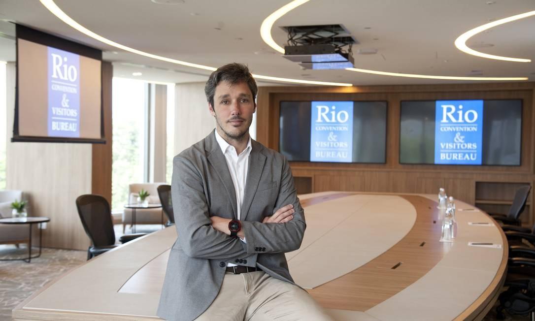 Mais eventos. Philipe Campello, diretor do Rio Convention e Visitors Bureau Foto: Adriana Lorete / Agência O Globo