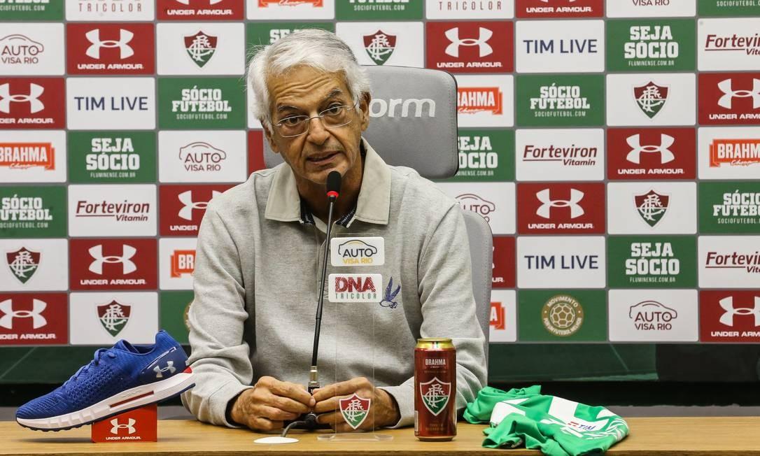 Celso Barros foi pivô de crise no Fluminense esta semana Foto: Lucas Merçon / Fluminense