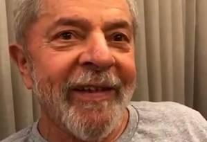 Lula gravou primeiro vídeo nas redes após deixar prisão em Curitiba. Foto: Reprodução