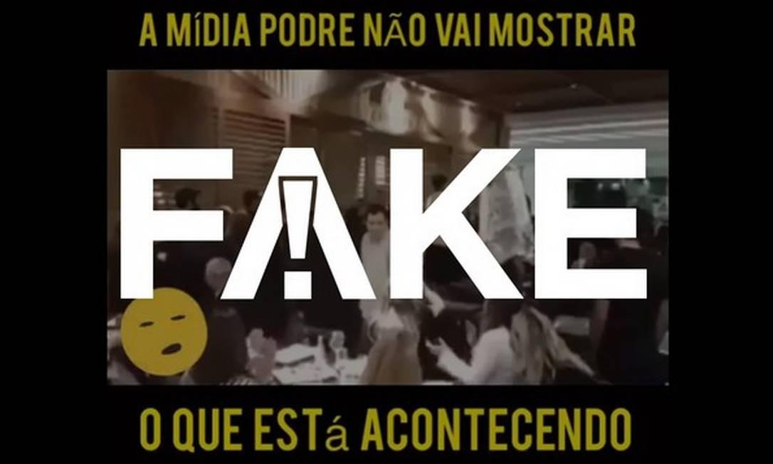 É #FAKE que vídeo mostra Lula sendo expulso de restaurante após deixar prisão Foto: Reprodução