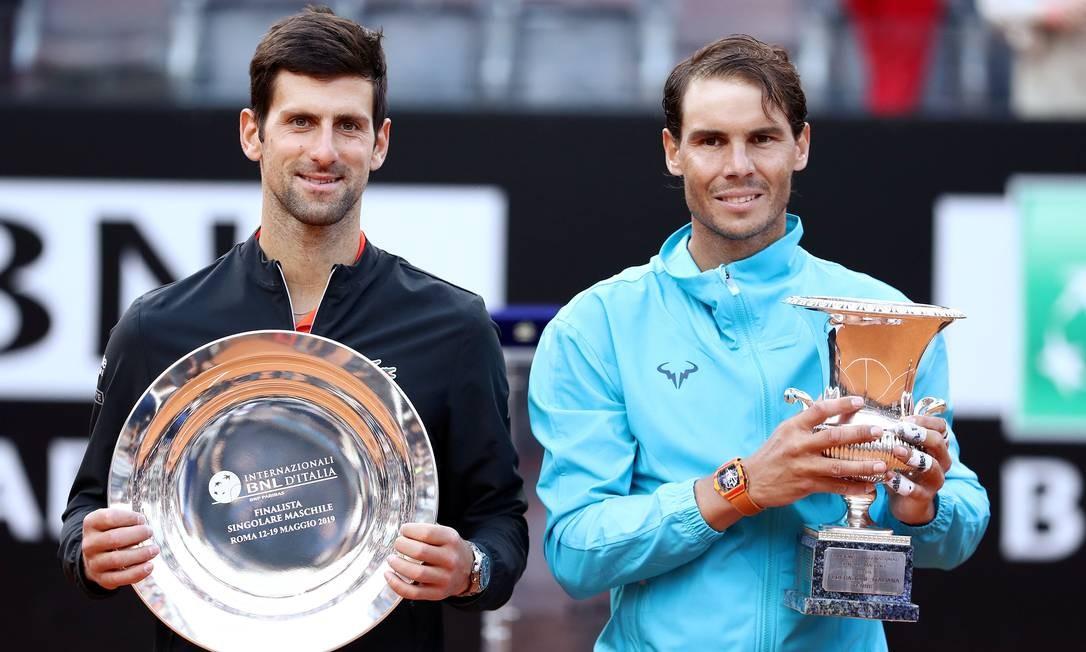 Djokovic pode tomar a liderança do ranking de Nadal Foto: Matteo Ciambelli / REUTERS