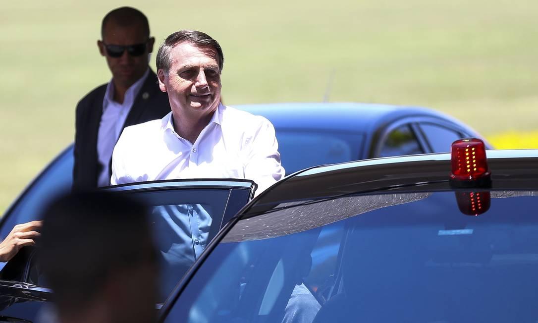 Jair Bolsonaro no Palácio da Alvorada Foto: Marcelo Camargo / Agência Brasil