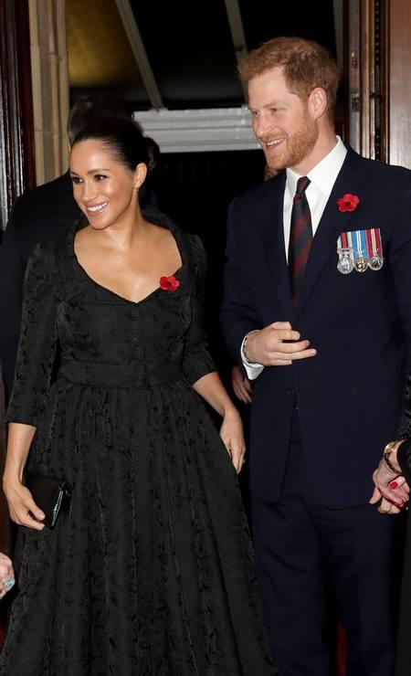 Harry e Meghan no Royal Albert Hall Foto: POOL / REUTERS